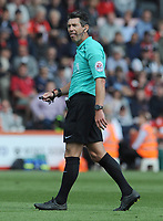 Referee Lee Probert in action during todays match  <br /> <br /> Photographer Ian Cook/CameraSport<br /> <br /> The Premier League - Bournemouth v Burnley - Saturday 13th May 2017 - Vitality Stadium - Bournemouth<br /> <br /> World Copyright &copy; 2017 CameraSport. All rights reserved. 43 Linden Ave. Countesthorpe. Leicester. England. LE8 5PG - Tel: +44 (0) 116 277 4147 - admin@camerasport.com - www.camerasport.com