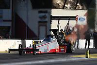 Jun 3, 2016; Epping , NH, USA; NHRA top fuel driver Todd Paton during qualifying for the New England Nationals at New England Dragway. Mandatory Credit: Mark J. Rebilas-USA TODAY Sports