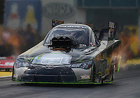 Mar 18, 2016; Gainesville, FL, USA; NHRA funny car driver Alexis DeJoria during qualifying for the Gatornationals at Auto Plus Raceway at Gainesville. Mandatory Credit: Mark J. Rebilas-USA TODAY Sports