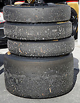 Monterey California, May 4, 2014, Laguna Seca Monterey Grand Prix, used tires from the DeltaWing car.