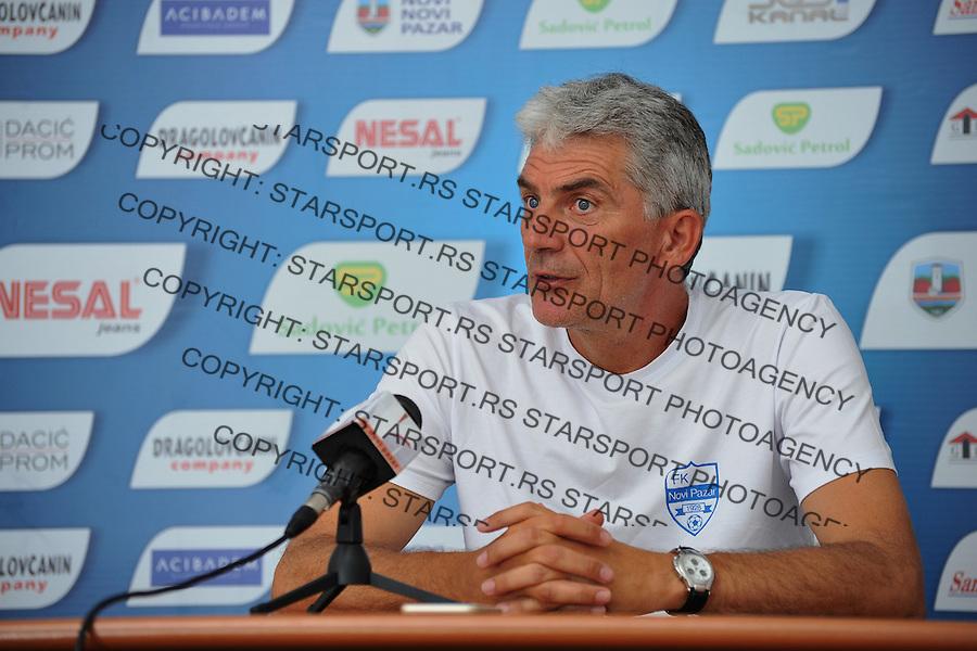 Fudbal Super liga season 2015-2016<br /> Press konferencija uoci meca<br /> Novi Pazar v Javor<br /> Sef strucnog staba Petar Kurcubic<br /> Novi Pazar, 16. 7. 2015<br /> foto: Emir Sadovic/Starsportphoto &copy;