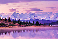 Mount Brooks, Wonder Lake, Alaska range, Denali National Park, Alaska