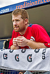 23 February 2013: Washington Nationals infielder Chad Tracy stands in the dugout awaiting the start of play prior to a Spring Training Game against the New York Mets at Tradition Field in Port St. Lucie, Florida. The Mets defeated the Nationals 5-3 in their Grapefruit League Opening Day game. Mandatory Credit: Ed Wolfstein Photo *** RAW (NEF) Image File Available ***