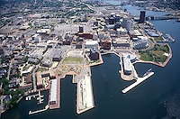 1995 May 10..Redevelopment.Downtown West (A-1-6)..LOOKING EAST.PIER B & FREEMASON HARBOR IN FOREGROUND...NEG#.NRHA#..