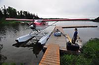 Float plane on Fish Lake, Talkeetna