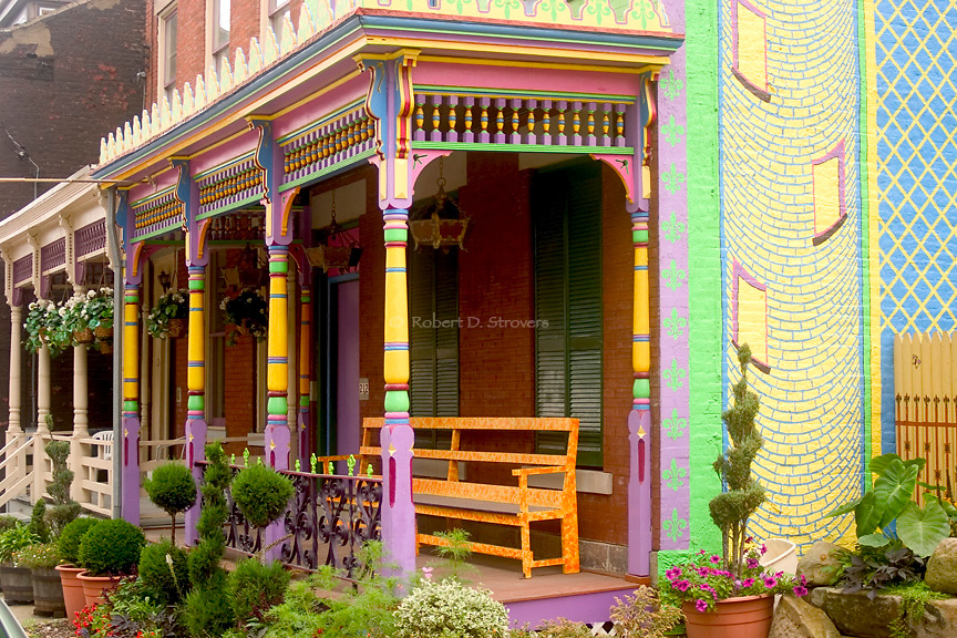 Pittsburgh's Neighborhoods - Colorful Mexican War Streets porch