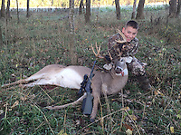 Courtesy photo<br /> ELEVEN-POINT BUCK<br /> Weston Phillips, 12, of Farmington, shows an 11-point buck he shot Nov. 8, 2015 during the statewide youth deer hunt. Weston was hunting with his dad, Dylan Phillips, near Elkins.