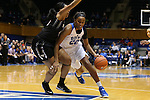 07 January 2016: Duke's Oderah Chidom (22) and Wake Forest's Elisa Penna (left). The Duke University Blue Devils hosted the Wake Forest University Demon Deacons at Cameron Indoor Stadium in Durham, North Carolina in a 2015-16 NCAA Division I Women's Basketball game. Duke won the game 95-68.
