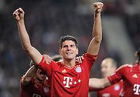 Fussball 1. Bundesliga:  Saison   2011/2012    16. Spieltag VfB Stuttgart - FC Bayern Muenchen  11.12.2011 Jubel nach dem Tor zum 1:2 Mario Gomez (FC Bayern Muenchen)