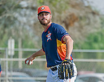 20 March 2015: Houston Astros pitcher Mark Appel works in the backfields prior to a Spring Training game against the Washington Nationals at Osceola County Stadium in Kissimmee, Florida. The Nationals defeated the Astros 7-5 in Grapefruit League play. Mandatory Credit: Ed Wolfstein Photo *** RAW (NEF) Image File Available ***