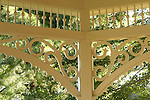 Peddler's Village. Bucks County, PA. Ornate gazebo detail.