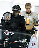 Ryan Ellis (Canada - 8), PK Subban (Canada - 5), Zach Boychuk (Canada - 11) - Team Canada practiced the morning of Tuesday, December 30, 2008, at Scotiabank Place in Kanata (Ottawa), Ontario during the 2009 World Junior Championship.