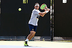 13 May 2016: Michigan's Myles Schalet. The University of Michigan Wolverines played the East Tennessee State University Buccaneers at the Wake Forest Tennis Center in Winston-Salem, North Carolina in a 2015-16 NCAA Division I Men's Tennis Tournament First Round match. Michigan won the match 4-3.