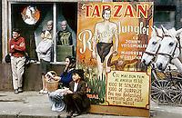 "ROMANIA, Bucharest, May 1981..Sets of the film ""IstErica"" in a court on Eminescu street..ROUMANIE, Bucarest, Mai 1981..Décors du film ""Isterica""  dans une cour sur la rue Eminescu..© Andrei Pandele / EST&OST"