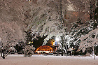 Grotto after snowfall, Thanksgiving night.<br />