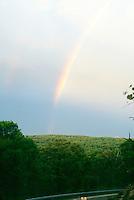 RAINBOW<br /> Irvington, NY<br /> Rainbow over hills