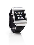 Samsung Galaxy Gear smart watch closeup. Isolated watch on white background with clipping path.