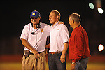 Oxford High coach Johnny Hill (left) with 2010 quarterback Guy Cameron Billups (center), who plays at Rice,  in Oxford, Miss. on Friday, October 14, 2011. Hernando won 31-30 in overtime.