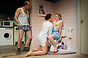 "London, UK. 13/06/2011.  ""Realism"" by Anthony Neilson has it's UK premiere at the Soho Theatre, London. Pcture shows Tim Treloar (as Tim), Golda Rosheuval (as Angie) and Robyn Addison (as Laura). Photo credit should read Jane Hobson"