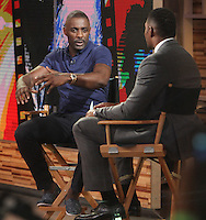 NEW YORK, NY-July 19: Michael Strahan, Idris Elba at Good Morning America to talk about  Star Trek Beyond in New York. NY July 19, 2016. Credit:RW/MediaPunch