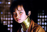 A Padaung or longneck girl in Nai Soi, Thailand is a refugee from the Kayah ethnic group in Mayanmar.