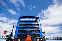 A Mazergroup New Holland Agriculture dealership is seen in Portage La Prairie, Manitoba, Monday August 17, 2015. New Holland Agriculture is  a global brand of agricultural machinery produced by CNH Industrial.