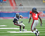 Ole Miss' Vincent Sanders (10) in Grove Bowl in Oxford, Miss. on Saturday, April 16, 2011.