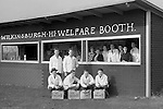 Wilkinsburg PA:  View of the volunteers and students working the concession stand at the Wilkinsburg High School football game - 1937.