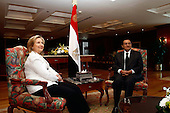 United States Secretary of State Hillary Rodham Clinton meets with President Hosni Mubarak of Egypt in Sharm El Sheikh, Egypt, on Tuesday, September 14, 2010. .Credit: Department of State via CNP.
