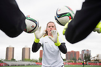 Edmonton, Canada - June 18, 2015:  The USWNT trained in preparation for their round of 16 game in the FIFA Women's World Cup.