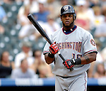 26 August 2007:  Washington Nationals left fielder Wily Mo Pena at bat against the Colorado Rockies at Coors Field in Denver, Colorado. The Rockies defeated the Nationals 10-5 to sweep the 3-game series...Mandatory Photo Credit: Ed Wolfstein Photo