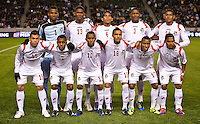 CARSON, CA - March 25, 2012: Panama starting line up for the Mexico vs Panama match at the Home Depot Center in Carson, California. Final score Mexico 1, Panama 0.