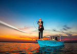 Personal work on an ongoing project<br /> <br /> Tallahassean Bernie Gandy lll fishes before work in Oyster Bay in Wakulla Count, Florida.