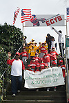 El Cerrito CA Little League team members presenting themselves at opening day parade