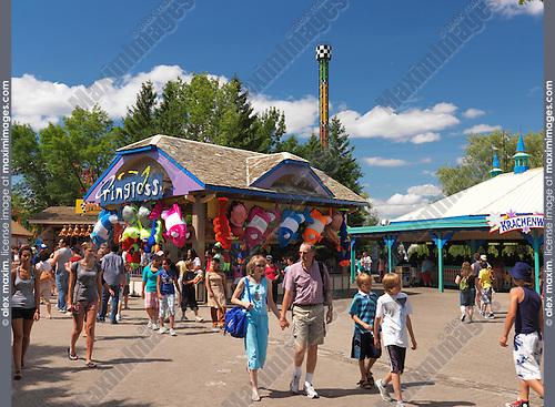 People at Canada's Wonderland amusement park. Vaughan, Ontario, Canada.
