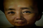 Painting of Chairman Mao Ze Dong in a souvenir shop in Beijing, China on Thursday, August 7, 2008. The city of Beijing is gearing up for the opening ceremonies of the Olympic Games.  Kevin German