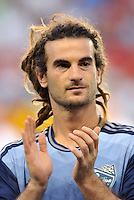 Sporting Park, Kansas City, Kansas, July 31 2013:<br /> Kyle Beckerman (23) midfield MLS All-Stars .<br /> MLS All-Stars were defeated 3-1 by AS Roma at Sporting Park, Kansas City, KS in the 2013 AT &amp; T All-Star game.