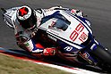 July 3, 2010 - Catalunya, Spain - Jorge Lorenzo powers his bike during a free cession of the Catalunya Grand Prix, Spain, on July 3, 2010. (Photo Andrew Northcott/Nippon News).