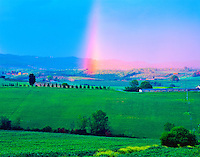 Tuscany Rainbow, Near Monteriggioni, Tuscany Region, Italy