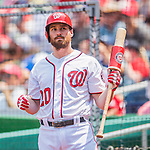 24 July 2016: Washington Nationals infielder Daniel Murphy in action against the San Diego Padres at Nationals Park in Washington, DC. The Padres defeated the Nationals 10-6 to take the rubber match of their 3-game, weekend series. Mandatory Credit: Ed Wolfstein Photo *** RAW (NEF) Image File Available ***