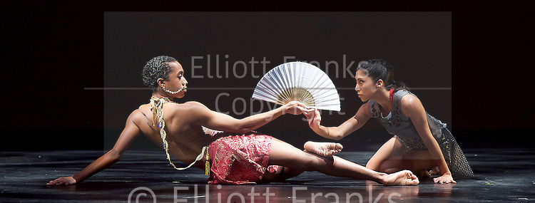 Sadler's Wells Sampled <br /> at Sadler's Wells, London, Great Britain <br /> press photocall / rehearsals <br /> 2nd February 2017 <br /> <br /> Extracts from Bayadere <br /> by Shobana Jeyasingh Dance <br /> <br /> <br /> <br /> <br /> <br /> Photograph by Elliott Franks <br /> Image licensed to Elliott Franks Photography Services