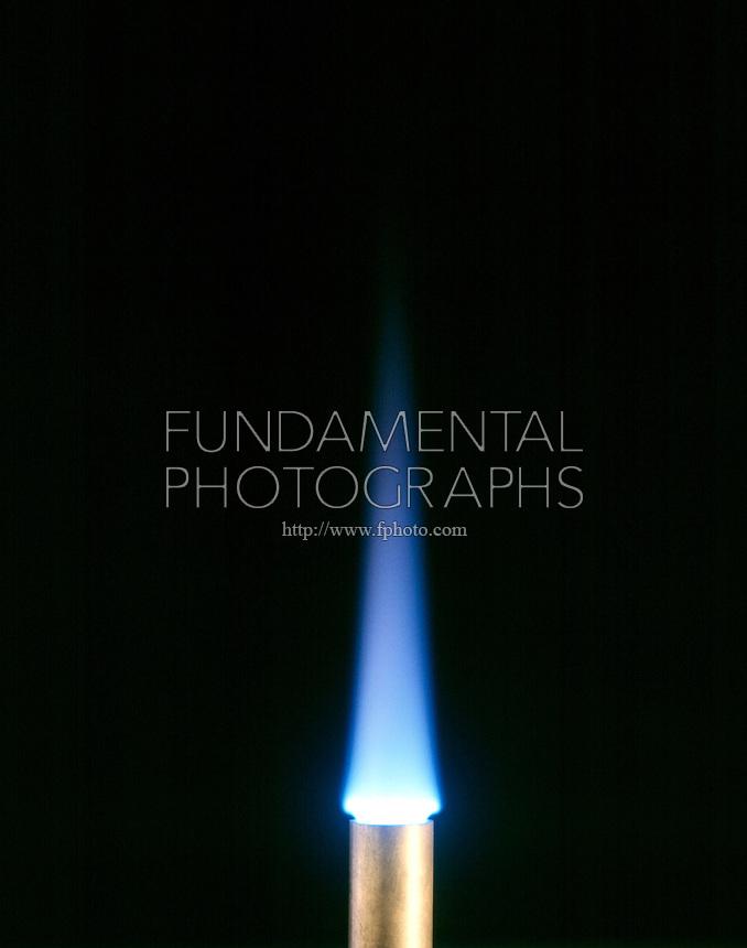 how to make a blue flame bunsen burner