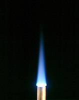 PROPANE FLAME OF BUNSEN BURNER<br />