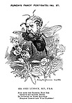 Punch's Fancy Portraits. - No. 97. Sir John Lubbock, M.P., F.R.S. How doth the banking busy bee improve his shining house by studying on bank holidays strange insects and wild flowers!