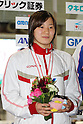 Rino Hosoda, .FEBRUARY 11, 2012 - Swimming : .The 53rd Japan Swimming Championships (25m) .Women's 50m Butterfly Victory Ceremony .at Tatsumi International Swimming Pool, Tokyo, Japan. .(Photo by YUTAKA/AFLO SPORT) [1040]