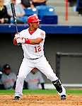 9 March 2010: Washington Nationals' infielder Alberto Gonzalez in action during a Spring Training game against the Detroit Tigers at Space Coast Stadium in Viera, Florida. The Tigers defeated the Nationals 9-4 in Grapefruit League action. Mandatory Credit: Ed Wolfstein Photo
