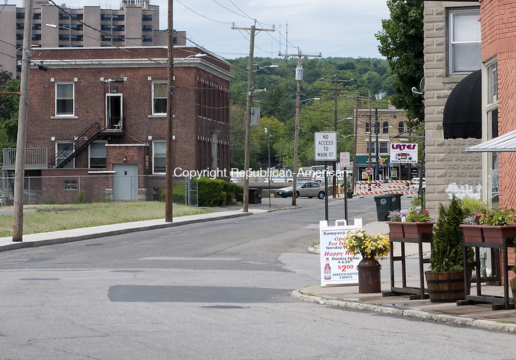 TORRINGTON, CT, 05  JUNE 15 - The Marketplace, which opens July 9, is expected to stretch up Franklin Street nearly to Center Street.    Alec Johnson/ Republican-American