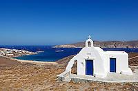 The small chapel near the beach of Saint Sostis in Mykonos, Greece