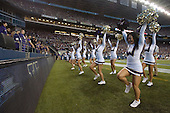 Sept 01, 2012:  Washington cheerleaders Dianna Won and Hannah Tripp against San Diego State.  Washington defeated San Diego State 21-12 at CenturyLink Field in Seattle, Washington...