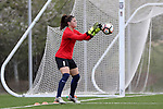 CHARLOTTE, NC - MARCH 25: Courage's Sabrina D'Angelo (CAN). The NWSL's North Carolina Courage played their first preseason game against the University of Tennessee Volunteers on March 25, 2017, at Queens University of Charlotte Sports Complex in Charlotte, NC. The Courage won the match 3-0.